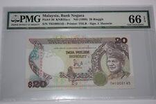 (PL) NEW: $ 20 TH 1008145 PMG 66 EPQ LAST PREFIX JAFFAR HUSSEIN 6TH SERIES UNC