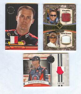 3 CARD 2012 KEVIN HARVICK RACE USED LOT