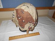 PASGT Helmet Cover, 1991, Sz. Medium-Large, Choc. Chip Desert Camo.