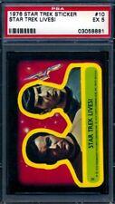 1976 Topps Star Trek Stickers — Star Trek Lives! #10 — PSA 5 — HIGH END