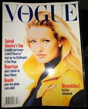 Vtg Vogue Paris 1992 Shana Zadrick Helena Christensen Nadja Auermann Ferragamo