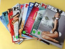 Playboy Magazine Full Year Set 2014. All 10 Issues. Complete Collection Nude Lot