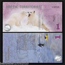 ARTIC TERRITORIES 1 DOLLAR POLYMER BEAUTIFUL NOTE UNC RARE ITEM # 436
