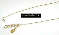 """14K yellow gold box chain with adjustable bead 18"""""""