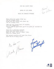 Janet Leigh, Lee Adams, Charles Strouse Autographed Music Lyrics With Global COA