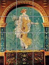 Antique Greek Fresco Art Tile Mural Back Splash Ceramic Decorative Bathroom