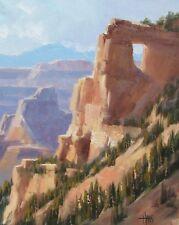 "TOM HAAS (b.1952) 'Angel's Window' oil 20"" x 16"" North Rim Grand Canyon 2017"