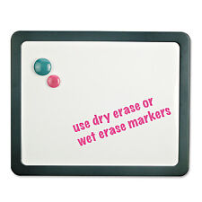 UNIVERSAL Recycled Cubicle Dry Erase Board 15 7/8 x 12 7/8 Charcoal with Three