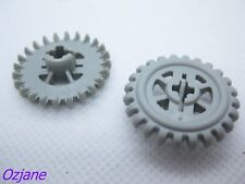 LEGO TECHNIC gear Parts pieces 24 T couronne ancien type Gris clair x 6pce Set 3560