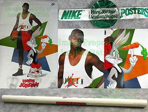 NITF! 1992 Nike Poster ☆ Hare Jordan ☆ Michael Air Bugs Bunny Poster ☆ Space Jam