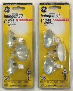 GE Halogen Spotlight 20 Watts 1 Year MR16 12V Bulbs 3-Pack x 2 #85290 New Sealed