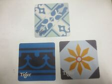 3 different TIGER Brewery,Singapore , Australian Issue  BEER coasters