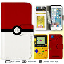 iPhone 8 7 Plus 6s 6 SE X Case Pokemon Print Wallet Leather Cover For Apple 5c 4