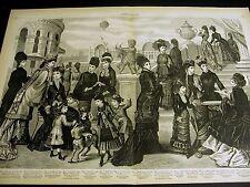 Morel - Victorian Ladies Children's FASHIONS 1878 DRESS COAT CLOAK SUIT Lg Print