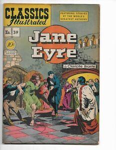 "CLASSICS ILLUSTRATED 39 - ORIGINAL EDITION - VG/F 5.0 - ""JANE EYRE"" (1947)"