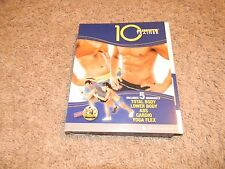 10 Minute Trainer - 4 Dvd has 8 workouts total body, lower body abs cardio yoga