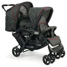 Chic 4 Baby Geschwisterwagen  Duo + Tragetasche & Regenhaube Jeans black NEU