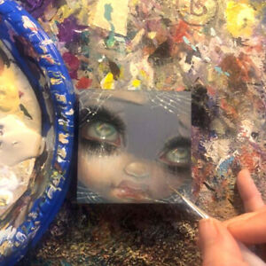 Tiny Treasure 182 Jasmine Becket-Griffith ORIGINAL PAINTING big eyes fairy art