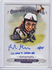 2018 Goodwin Champions Inscribed Auto RM Roberta Mancino - 10,000+ Sky Dives /25