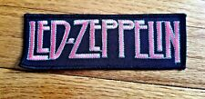 Led Zeppelin embroidered fabric black pink patch