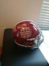 O.J. Howard Jake Coker Alabama Signed Speed 2015 National Championship Helmet