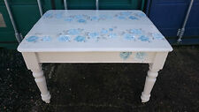 Antique Oak Kitchen / Dining Table, Upcycled in Decoupage Style (Width- 116cm)