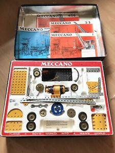 MECCANO Triang Line Bros Motorized metal basic construction set #5 RARE Boxed