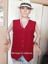 onhand liz Claiborne top large red