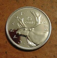 1989  CANADA quarter dollar twenty five 25 cents cent piece coin PL Proof Like
