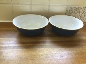 Denby - Imperial Blue- Cereal Bowls X2.