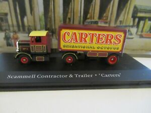 ATLAS GREATEST SHOW ON EARTH SCAMMELL CONTRACTOR & TRAILER - CARTERS SCALE 1:76