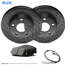 FRONT PowerSport Black Cross-Drilled Rotors and Ceramic Pads BBXF.34159.02