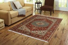 Handmade Medallion Rug Indian Vintage Carpet 4' X 6' Wool Bedroom Carpets NEW