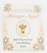 "MESSAGE ANGEL - SWAROVSKI CRYSTAL PIN / BROOCH - ""I WAS THINKING OF YOU"""