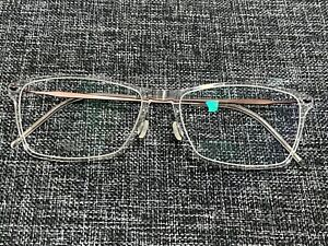 LINDBERG N.O.W 6503 55 CLEAR RECTANGULAR SHAPED TITANIUM FRAME NEW without tags