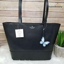 NWT Kate Spade Adley Large Tote Shoulder Bag in Black Leather Handbag New