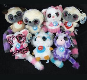 YooHoo & Friends Lot of 7 Plush w Sound Big Eye Tiger Bush Giraffe Fox AURORA