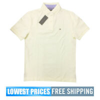 Tommy Hilfiger NWT Men's Classic Fit Solid Light Yellow Basic SP Polo Shirt