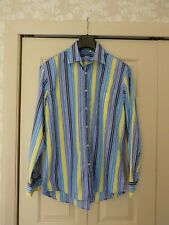 Boden Shirt Mans. yellow/blue stripes. Size Large.long sleeves.