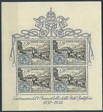 1952 VATICANO FOGLIETTO FRANCOBOLLI STATO PONTIFICIO MNH ** - VN2