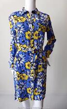 DIANE VON FURSTENBERG Adjustable Sleeve Silk Shirt Dress Size US 4 - 6 AU 8 - 10