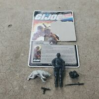 Vintage GI Joe Figure 1985 Snake Eyes complete with full (cut) file card