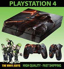PS4 skin Kylo Ren JEDI STAR WARS AUTOCOLLANT + PAD Décalques VINYL Laid Plat