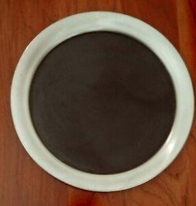 Sm. Vintage PEWTER RImmed Serving Tray w/ black center; drinks bar 9.25 in. NIB