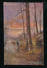 Australian Series The Sundowner Art artist J Hitchings c1920/30s? PPC