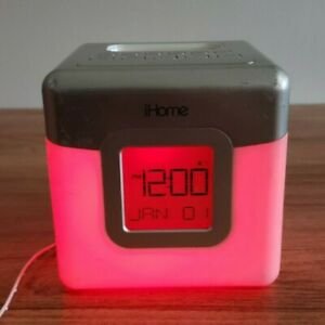 ihome ihm28 LED Colorful Radio, Clock, Alarm and iPhone Mp3 audio player-Tested