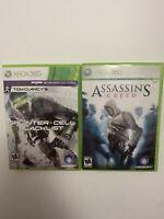 Tom Clancy's Splinter Cell: Blacklist & Assassins Creed. Xbox 360            G14