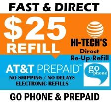 $25 At&T Prepaid & Go Phone Fastest Online Refill > 25yr Usa Trusted Dealer <