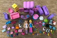 Polly Pocket Shopping Extravaganza! lot w Dolls, Jewelry, Polish, Shoes, Sunnies