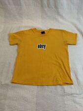 Obey Yellow T Shirt Size Xs Kids
